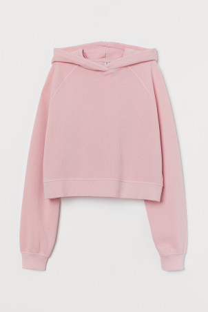 Sweat-shirt court avec capuche