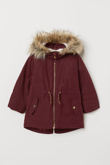 Padded parka - Burgundy - Kids | H&M CN