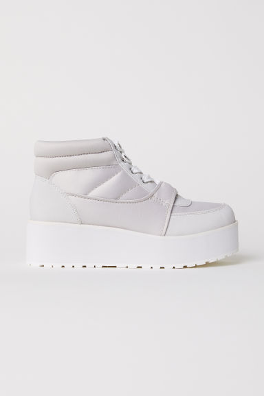 Platform trainers - Light grey - Ladies | H&M GB