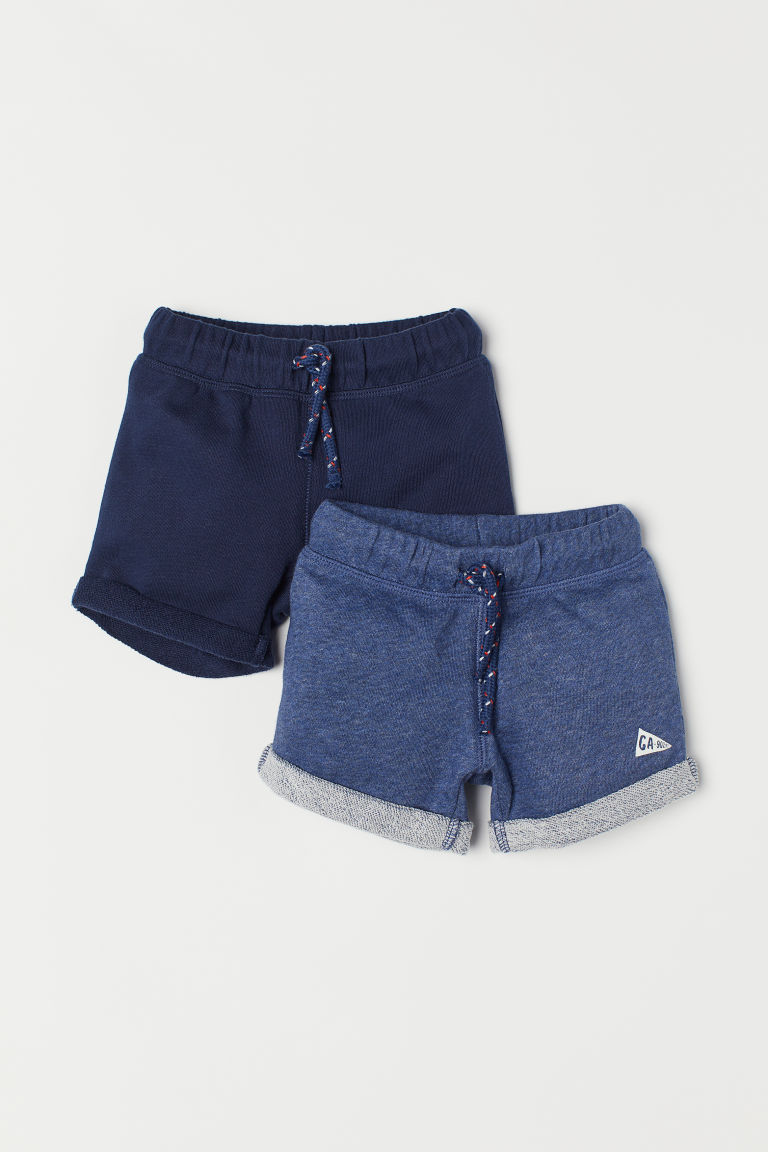 2-pack sweatshirt shorts - Dark blue -  | H&M CN