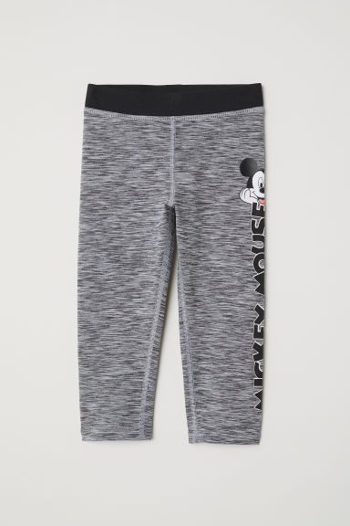 Driekwartsportlegging - Grijs gemêleerd/Mickey Mouse - KINDEREN | H&M BE