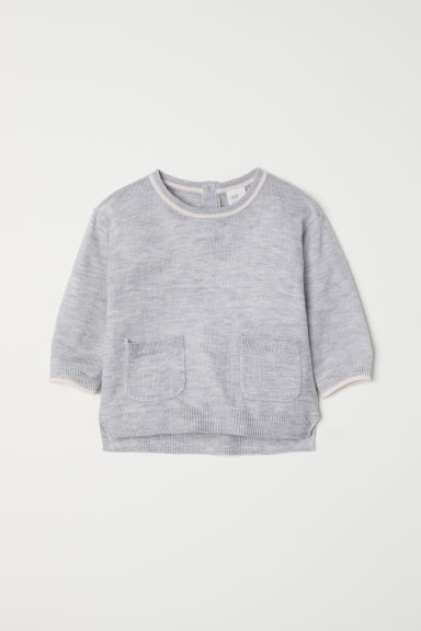 Fine-knit jumper - Light grey - Kids | H&M