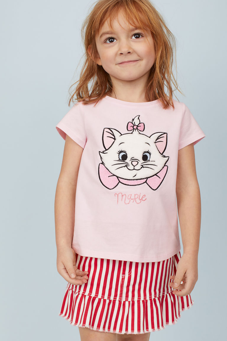Top with a motif - Light pink/Aristocats - Kids | H&M