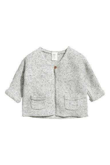 Gilet au point de riz - Gris clair/bleu chiné -  | H&M CH