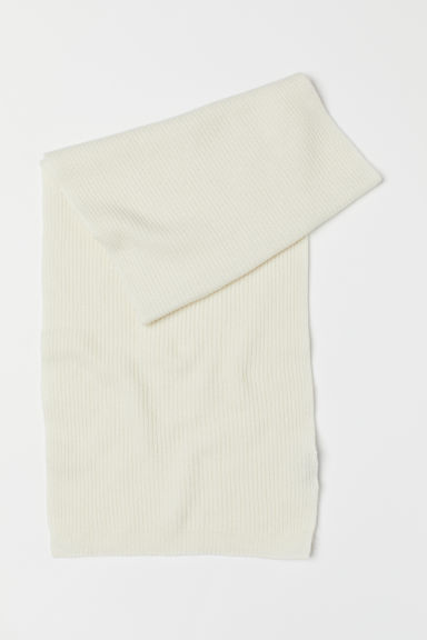 Ribbed cashmere scarf - Natural white - Men | H&M CN