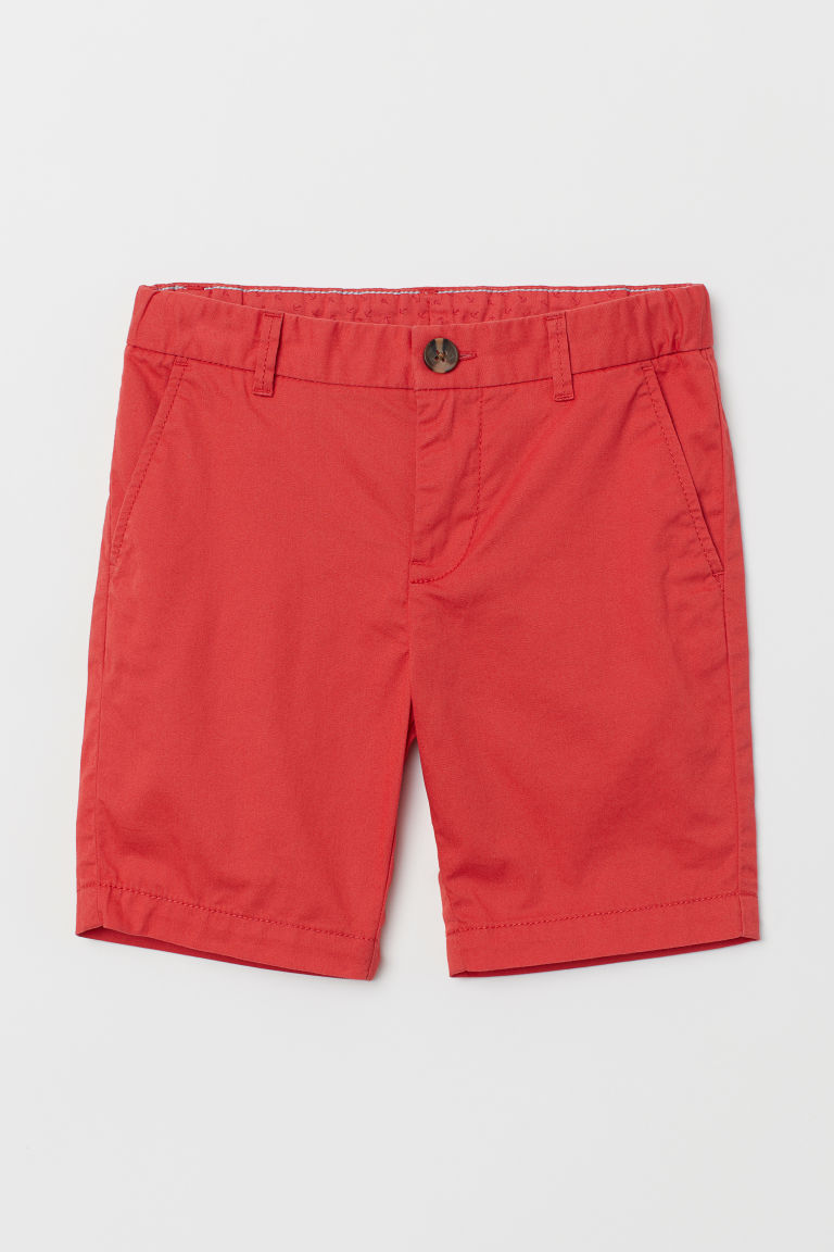 Chino shorts - Red - Kids | H&M GB