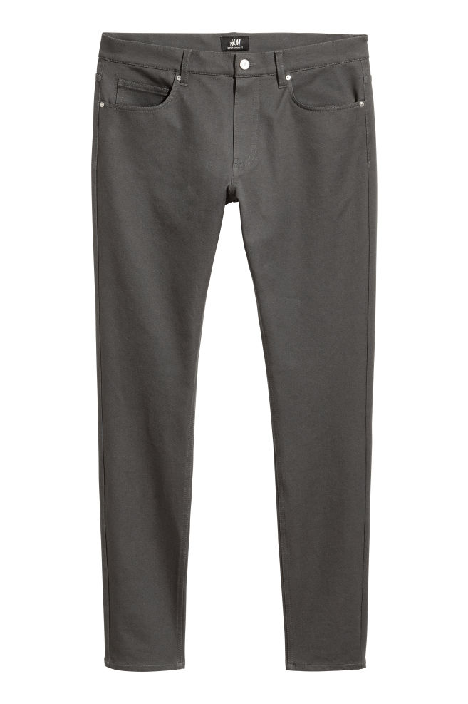 7a50f2574a Super Skinny Jeans - Gris oscuro - HOMBRE