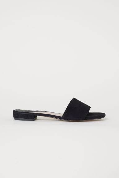 Sandali slip-on - Nero/scamosciato - DONNA | H&M IT