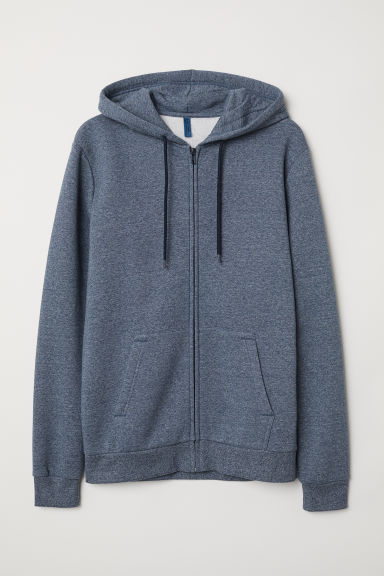 Hooded jacket - Blue marl - Men | H&M CN