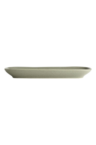 Stoneware serving dish - Dusky green -  | H&M CN