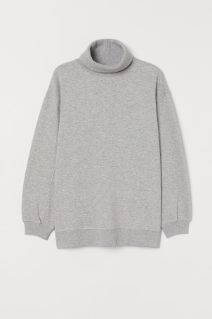 Oversized Turtleneck Top