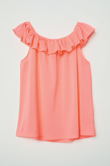 Top met volant - Koraalroze -  | H&M BE