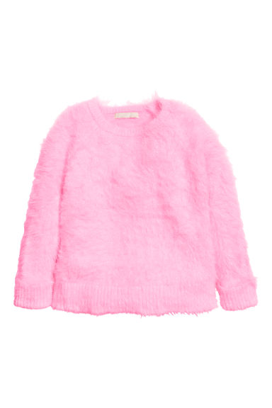 Fine-knit jumper - Pink - Kids | H&M CN