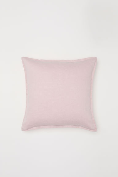 Washed linen cushion cover - Light pink - Home All | H&M CN