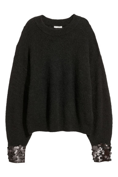 Mohair-blend jumper - Black - Ladies | H&M