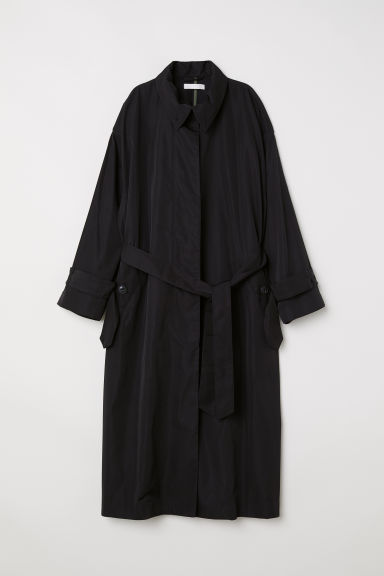 Lange trenchcoat - Zwart -  | H&M BE