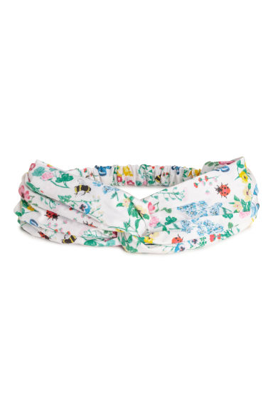 Hairband - White/Floral -  | H&M