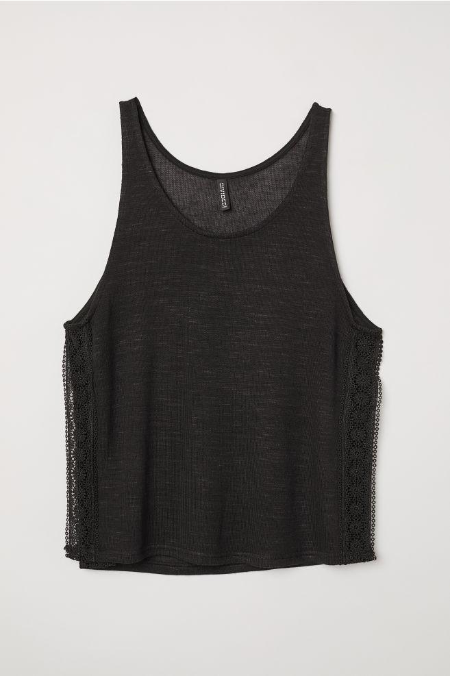 d334cb18e46 Lace-trimmed vest top