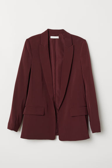 Straight-cut jacket - Dark red - Ladies | H&M CN