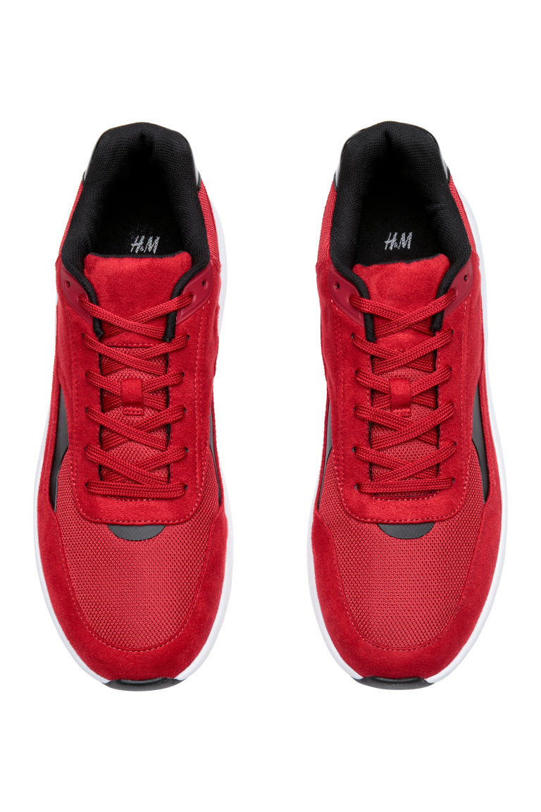 Mesh trainers - Red - Men | H&M CN