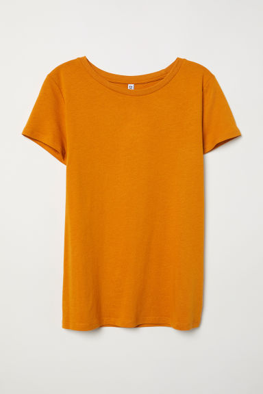 T-shirt - Dark yellow -  | H&M CN