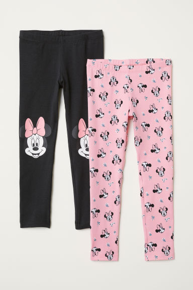 2-pack jersey leggings - Black/Minnie Mouse - Kids | H&M CN