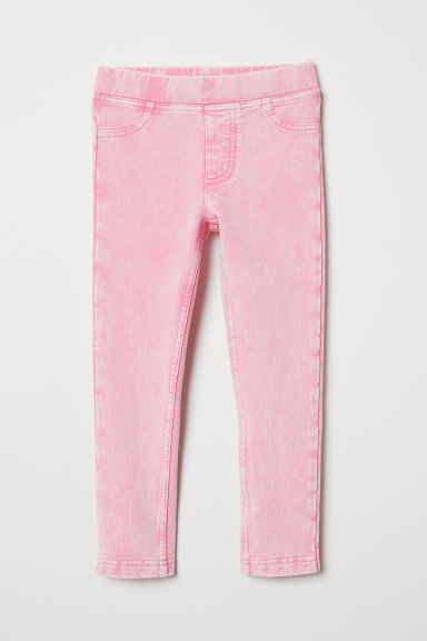 Sturdy jersey leggings - Pink washed out - Kids | H&M