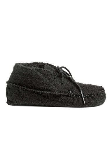 Wool-blend moccasins - Black - Kids | H&M CN