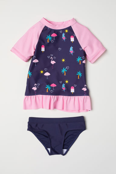 Swim set with UPF 50 - Dark blue - Kids | H&M