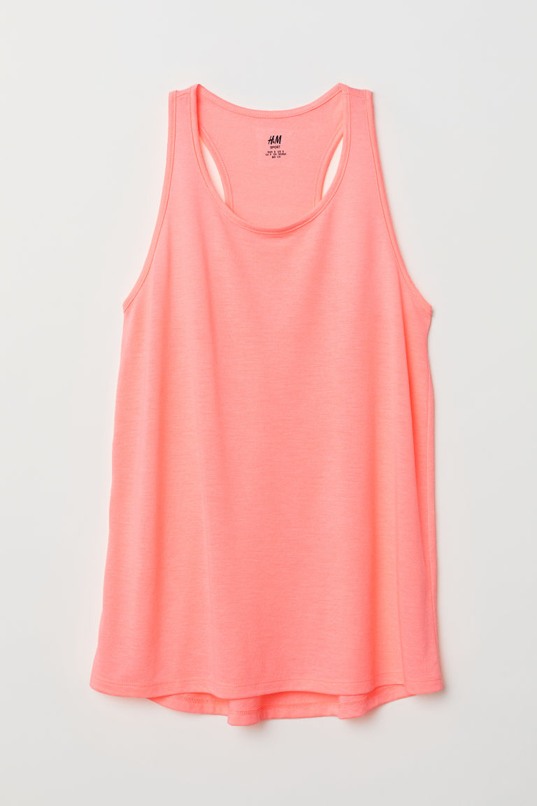 Sports vest top - Neon pink - Ladies | H&M