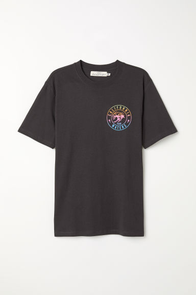 Printed T-shirt - Black/California Waters - Men | H&M CN