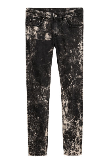 Skinny Low Jeans - Black/Bleached - Men | H&M