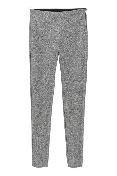 Glittery trousers - Silver-coloured/Glittery - Ladies | H&M IE