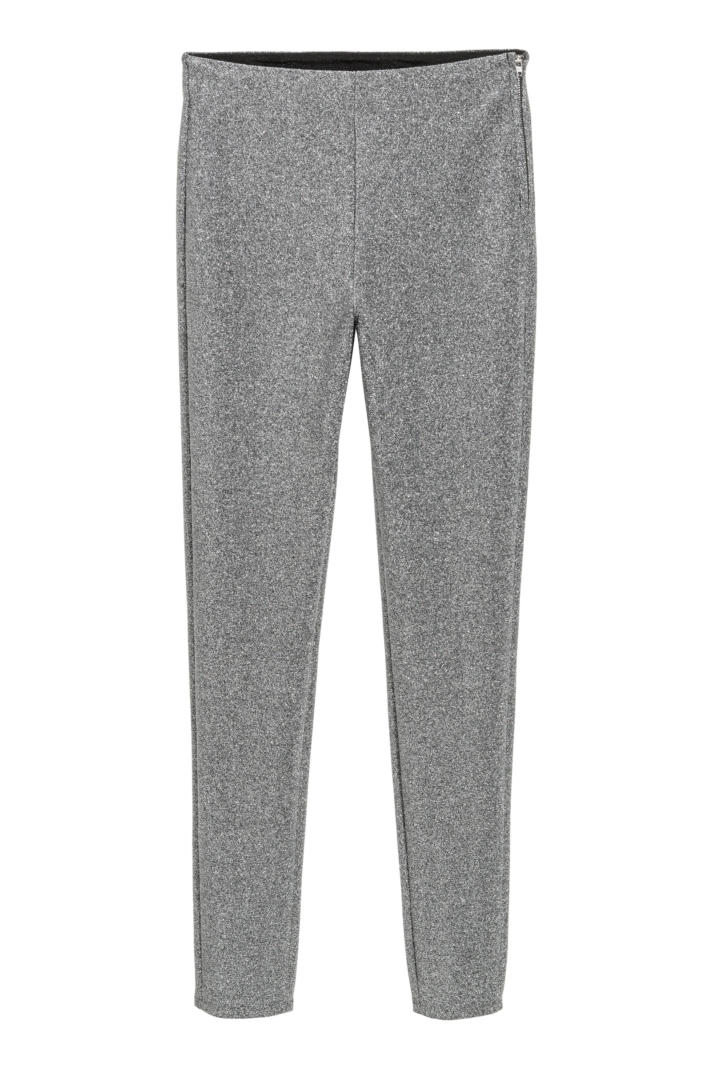 b5203fc5 Glittery Pants - Silver-colored/glittery - | H&M US