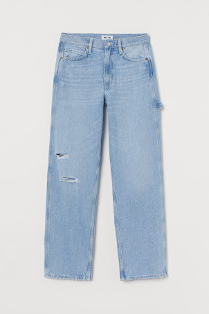 Slouch Straight High Jeans