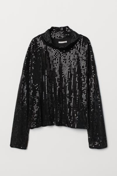H&M - Top à paillettes - 4
