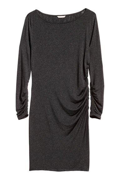 H&M+ Draped dress - Black -  | H&M GB