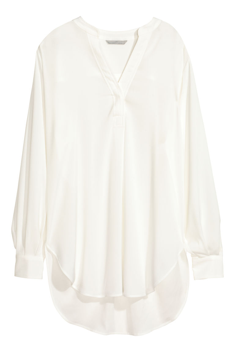 Crêpe blouse - White - Ladies | H&M CN