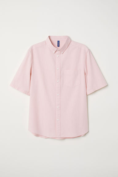 Cotton shirt Regular fit - Light pink - Men | H&M