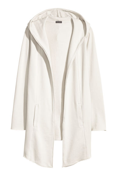 Long cardigan - Natural white - Men | H&M GB