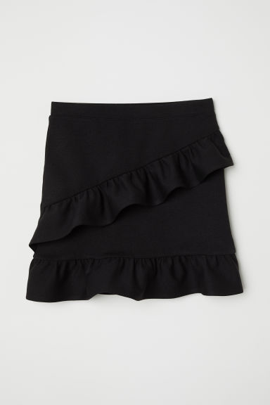 Flounced skirt - Black - Kids | H&M