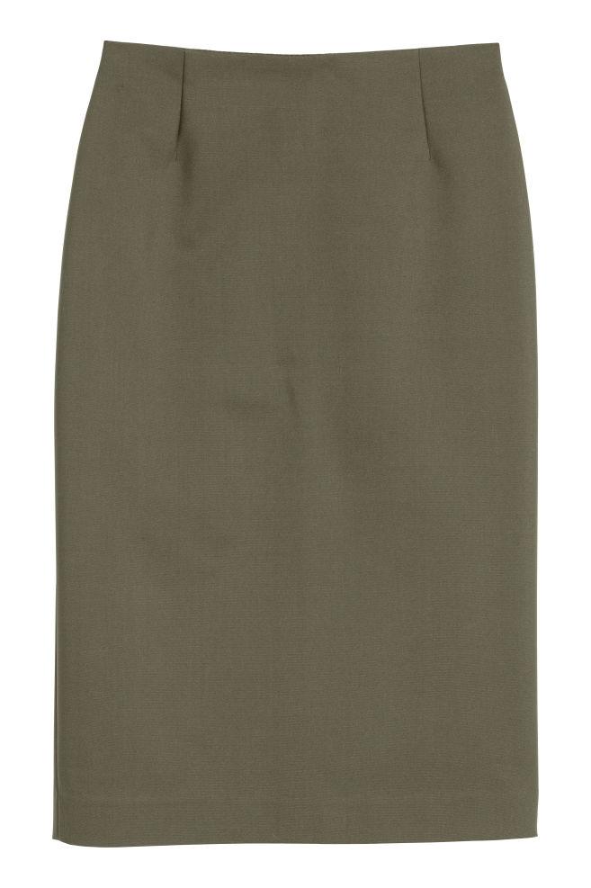 0ea563f4 Blyantskjørt - Kakigrønn - DAME | H&M ...