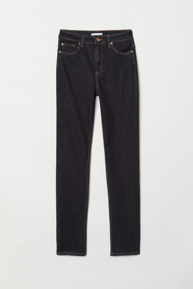 Skinny High Jeans - Dark denim blue - Ladies | H&M CN