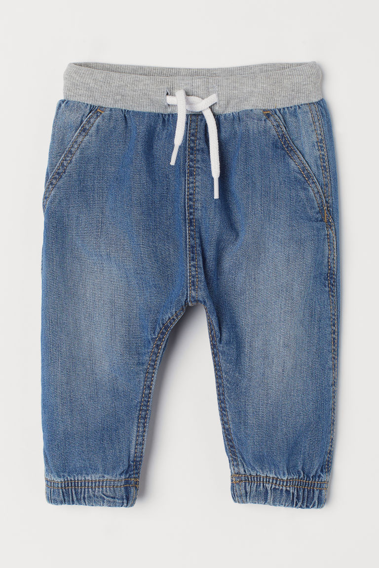 Pantaloni pull-on in denim - Blu denim - BAMBINO | H&M IT