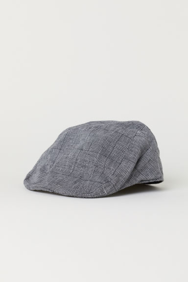 Flat cap - Dark grey/Checked - Men | H&M CN
