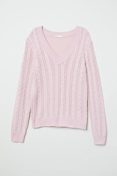 V-neck jumper - Light pink - Ladies | H&M GB