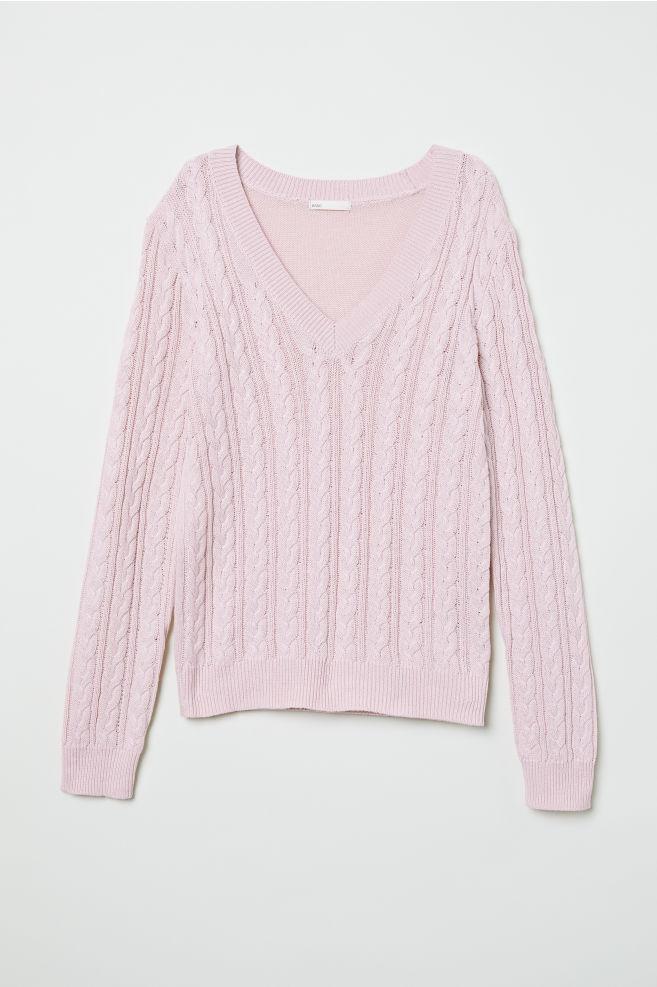 d208c3b85 V-neck Sweater - Light pink - Ladies