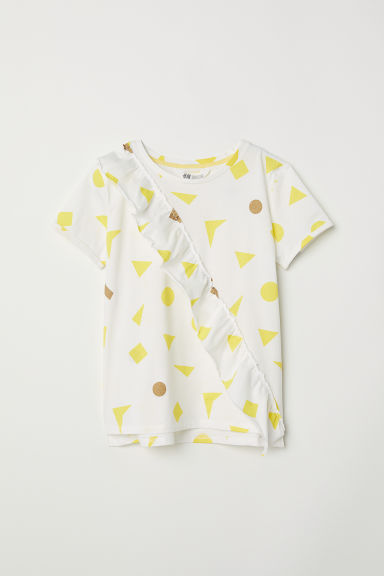Printed T-shirt - Natural white/Flounce - Kids | H&M