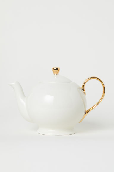 Théière en porcelaine - Blanc - Home All | H&M FR