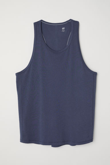 Sports top - Steel blue -  | H&M